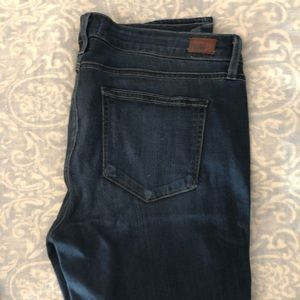 Paige denim maternity side panel jeans